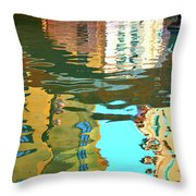 Venetian Mirror - Venice In Water Reflections Throw Pillow