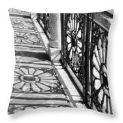 Venice Fence Shadows Throw Pillow