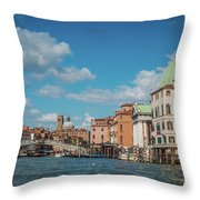 Venice Panorama Throw Pillow