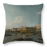 Venice   The Basin Of San Marco On Ascension Day Throw Pillow