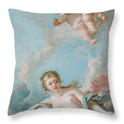 Venus On The Waves Throw Pillow