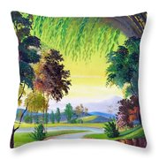 Verde Que Te Quero Verde Throw Pillow