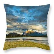 Vermilion Lakes Throw Pillow