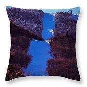 Vermonts Sugarbush Mountain Throw Pillow