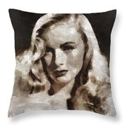 Veronica Lake Vintage Hollywood Actress Throw Pillow