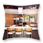 Very Modern Kitchen Throw Pillow