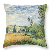 Vetheuil Throw Pillow