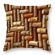 Vibrant Wines Throw Pillow