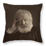 Victor Hugo Throw Pillow