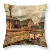 Victorian Colliery Throw Pillow
