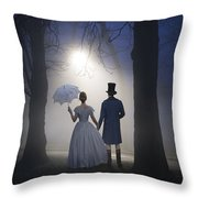 Victorian Couple At Night Throw Pillow