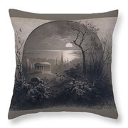 View From Greenwood Cemetery Throw Pillow