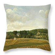 View Of Chatenay Throw Pillow