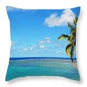 View Of Fiji Throw Pillow