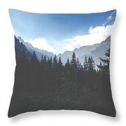 View Of Tatra Mountains From Hiking Trail. Poland. Europe.  Throw Pillow