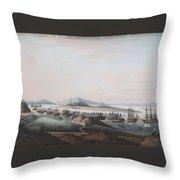 View Of The Thirteen Factories Throw Pillow