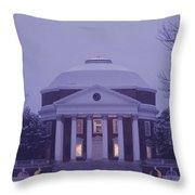 View Of The University Of Virginias Throw Pillow