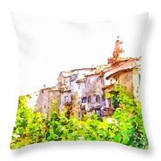 View Of The Village Throw Pillow