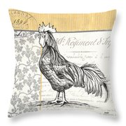 Vintage Farm 1 Throw Pillow by Debbie DeWitt