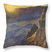Vintage Hawaiian Art Throw Pillow