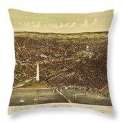 Vintage Map Throw Pillow