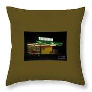 Vintage Pompano Park Throw Pillow