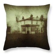 Vintage Public House Throw Pillow by Fine Art By Andrew David