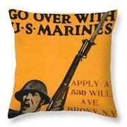 Vintage Recruitment Poster Throw Pillow