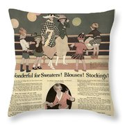 Sweaters Blouses And Stockings Vintage Soap Ad Throw Pillow