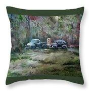 Vintage Vehicles Throw Pillow