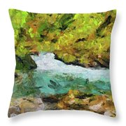 Vintgar Gorge Throw Pillow