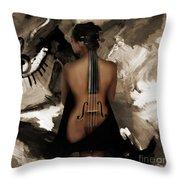 Violin Lady  Throw Pillow