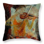 Violinist 67 Throw Pillow