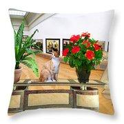 Virtual Exhibition 22 Throw Pillow