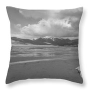 Visitors To The Sand Dunes Throw Pillow