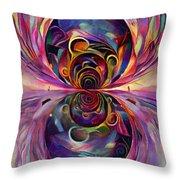 Vivid Fractal Throw Pillow