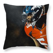 Von Miller Throw Pillow by Don Medina