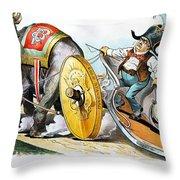 W. Mckinley Cartoon, 1896 Throw Pillow