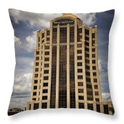 Wachovia Tower Roanoke Virginia Throw Pillow