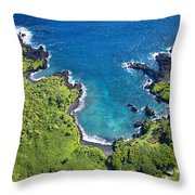 Waianapanapa State Park Throw Pillow