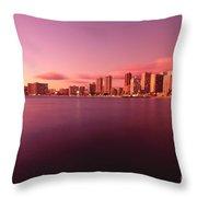 Waikiki At Sunset Throw Pillow