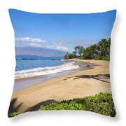 Wailea Ulua Beach Throw Pillow