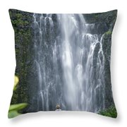 Wailua Falls Throw Pillow
