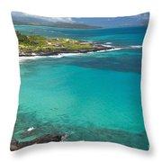 Waimanalo Coast Throw Pillow