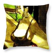 Waiting For Mr Right Throw Pillow