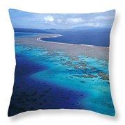 Wakaya Island Aerial Throw Pillow
