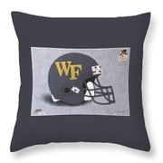 Wake Forest T-shirt Throw Pillow