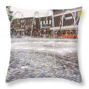 Wakefield City Centre Fountain Throw Pillow