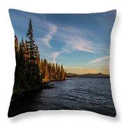 Waldo Lake Throw Pillow