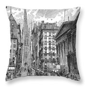 Wall Street, 1889 - To License For Professional Use Visit Granger.com Throw Pillow